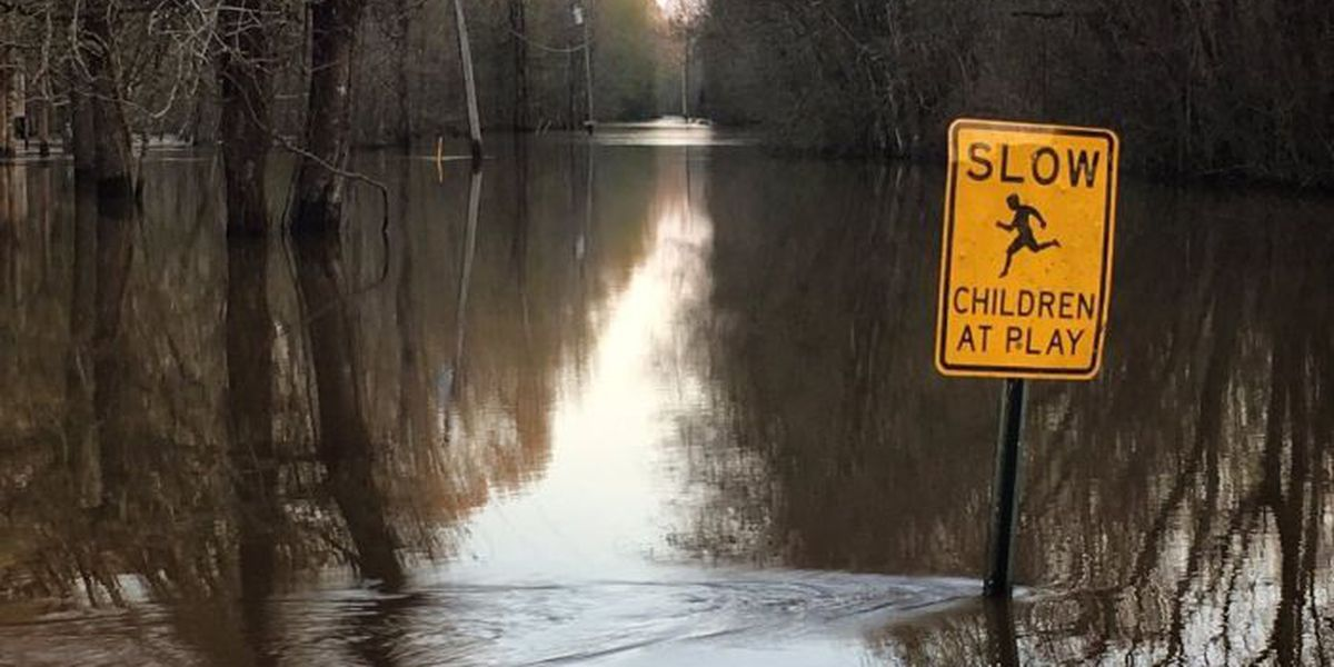 Flood water receding in Pearl River County