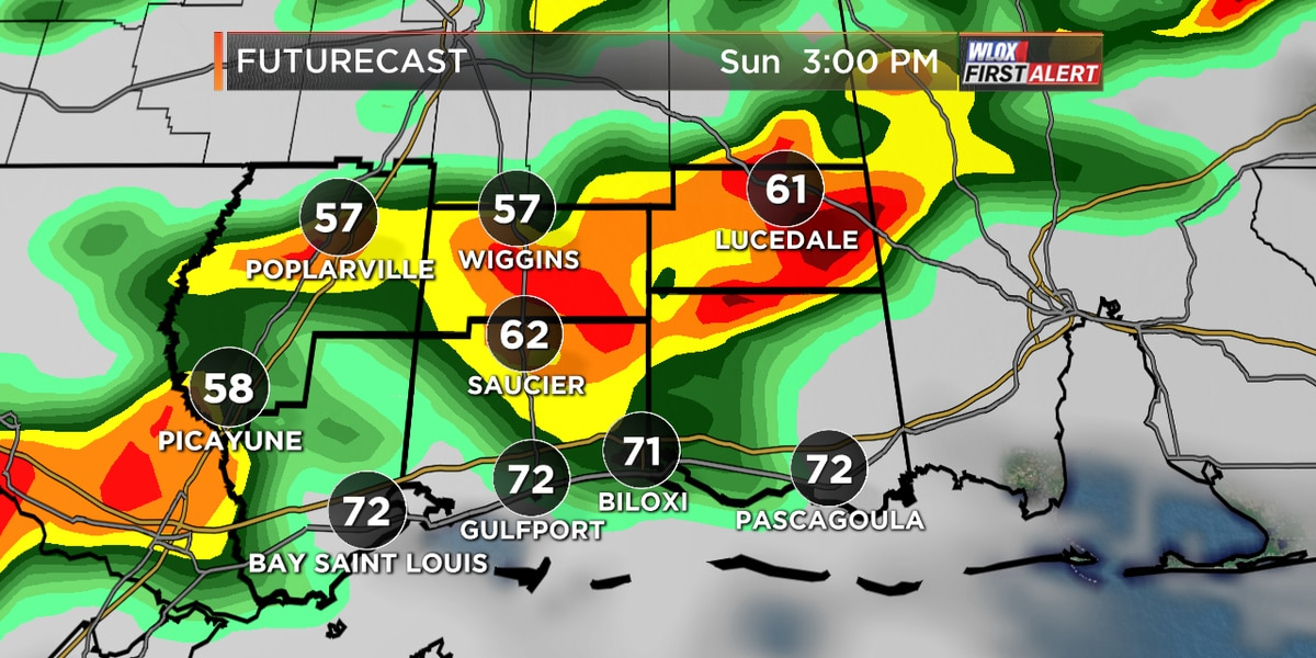 Showers and storms likely on Sunday afternoon