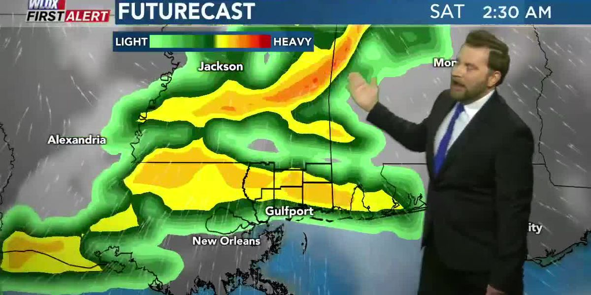 Chilly Thursday morning; strong storms possible Saturday morning