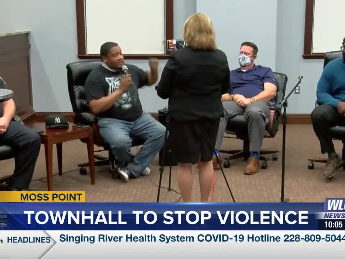 Moss Point holds town hall focused on stopping the violence