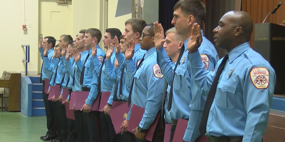 Gulfport Fire Dept. welcomes 16 new firefighters