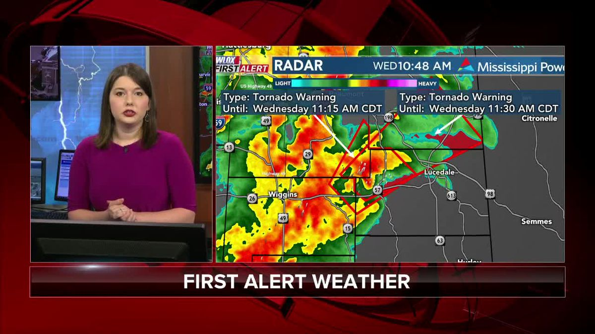 10:30am Update: Tornado Warning for Stone, George counties