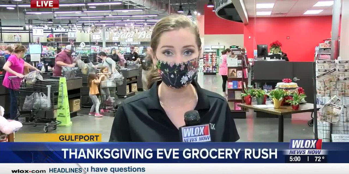 LIVE REPORT: Shoppers rush to grocery stores on Thanksgiving Eve
