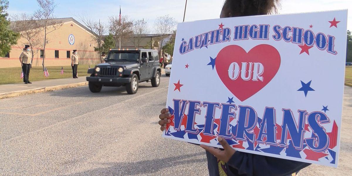 Gautier High celebrates veterans with a parade