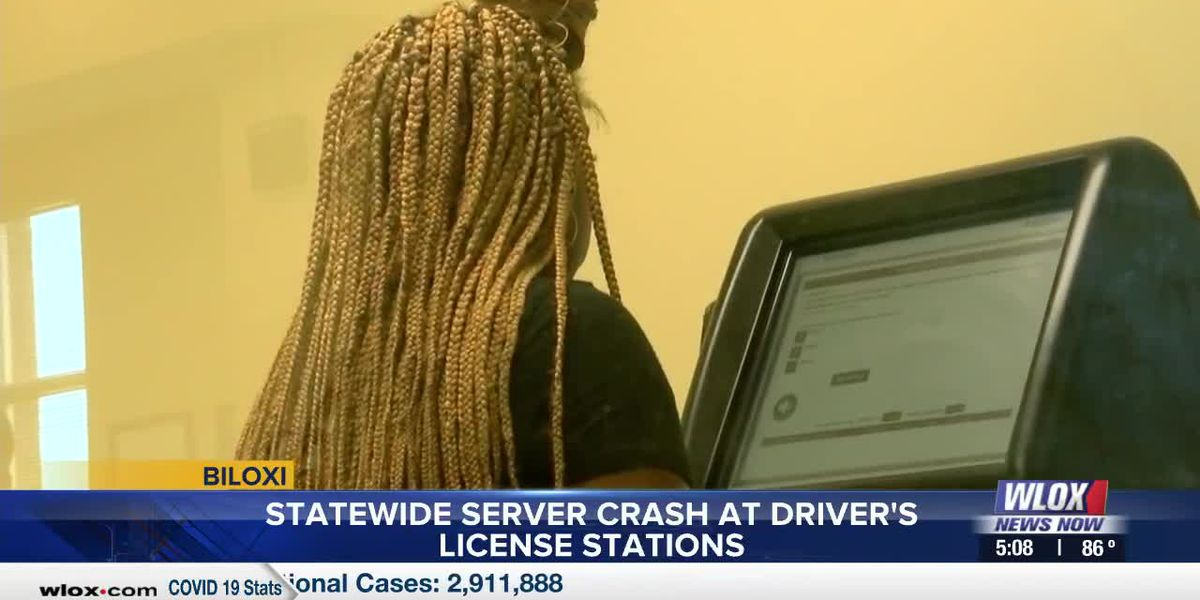 Statewide server crash at driver's license stations