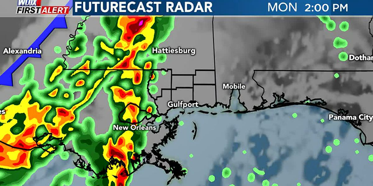 Showers and storms likely on Monday