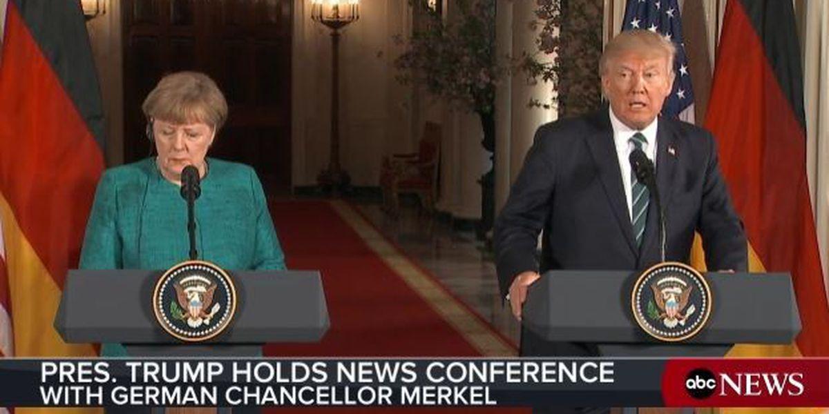 WATCH LIVE: President Trump welcomes German Chancellor Angela Merkel to White House