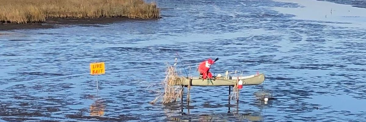 Santa spotted fishing in St. Andrews community