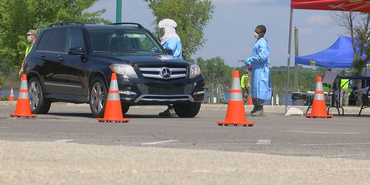 59 tested for COVID-19 at drive-through testing center in Moss Point