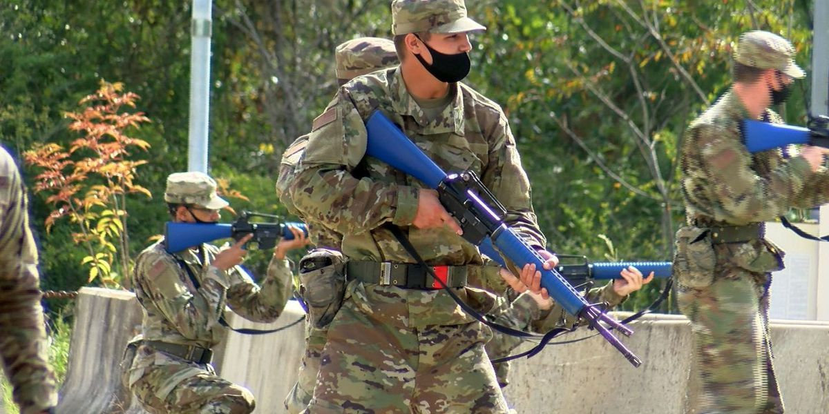 U.S. Air Force trainees from Keesler training at Camp Shelby