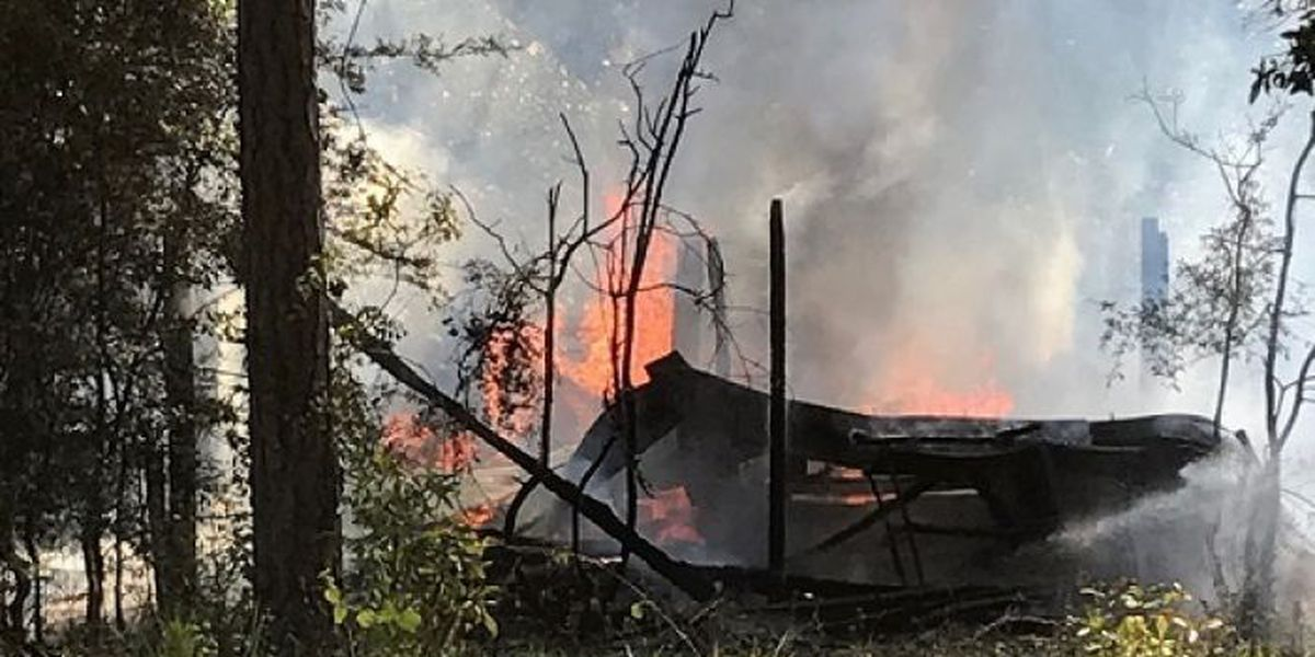 Fire torches old D'Iberville shed