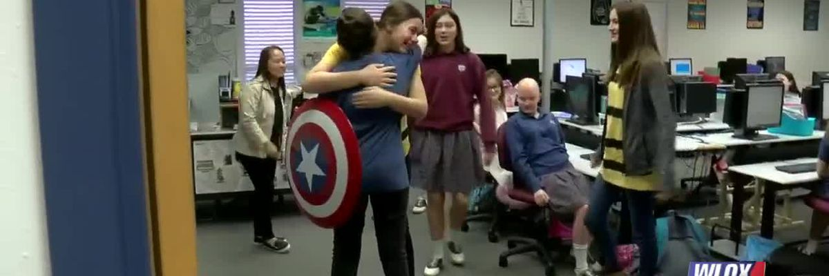 Hancock County student returns to school after battling cancer