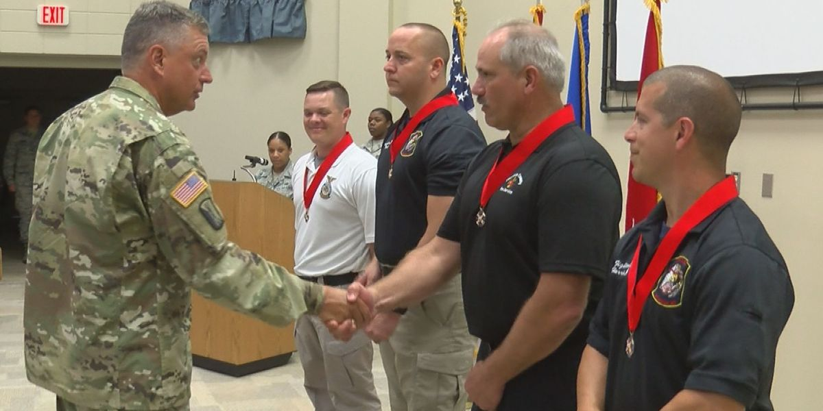 CRTC Firefighters honored for act of bravery