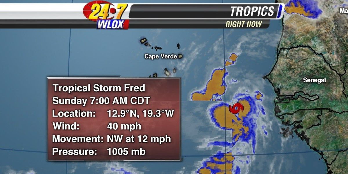 Tropical Storm Fred forms off African coast