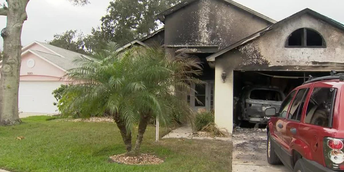 Amazon driver rescues elderly man trapped in burning Fla. home