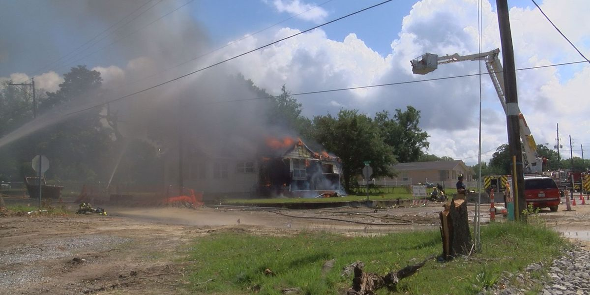Biloxi firefighters set home ablaze for 'invaluable' training experience