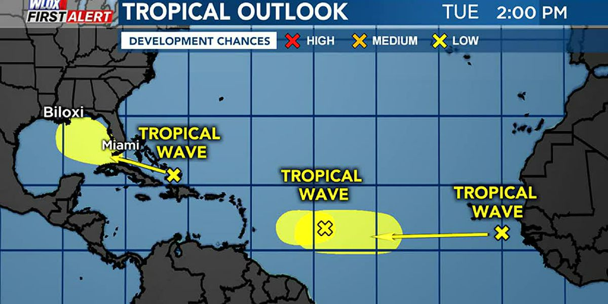 Tuesday Afternoon Tropics Update