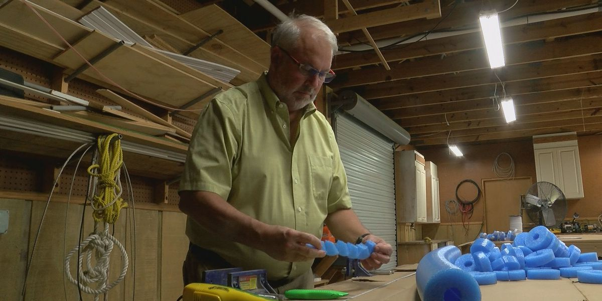 Long Beach man uses downtime during pandemic to build face shields