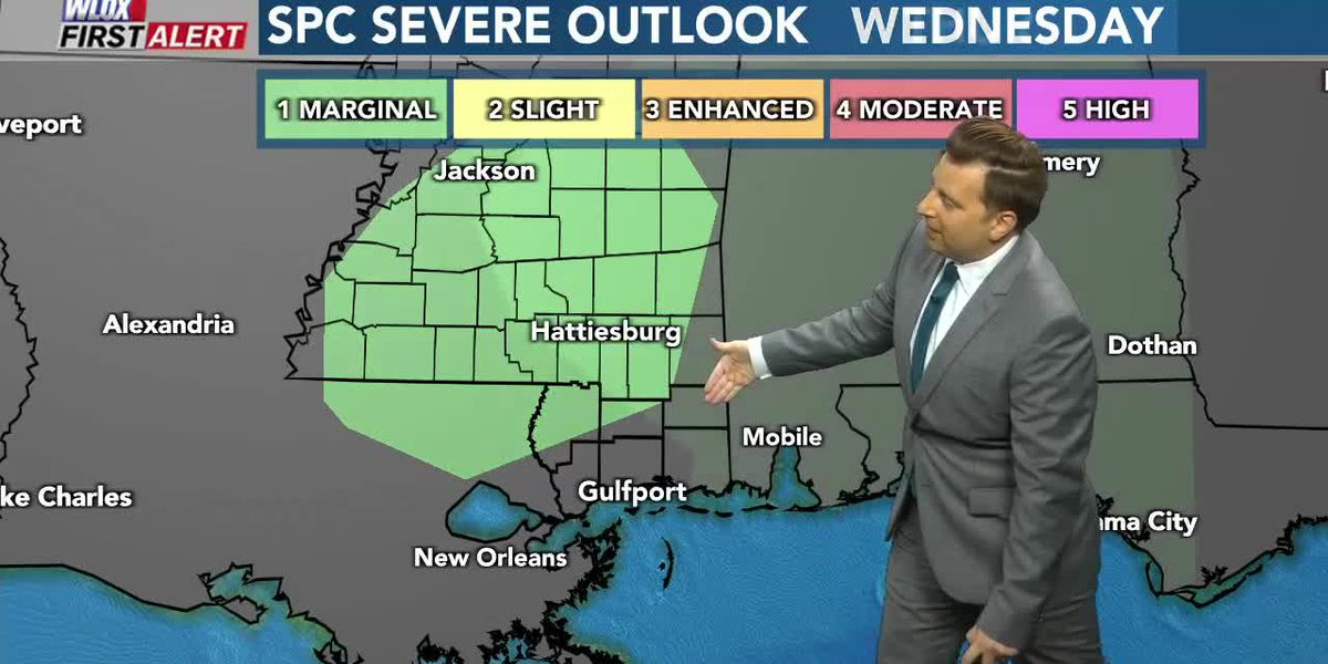 Remnants of Beta bring off and on showers and t-storms Thursday