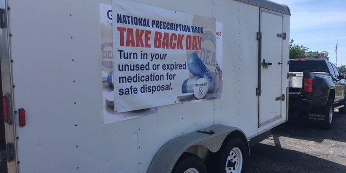 Thousands of pounds of drugs collected during national drug 'Take Back Day'