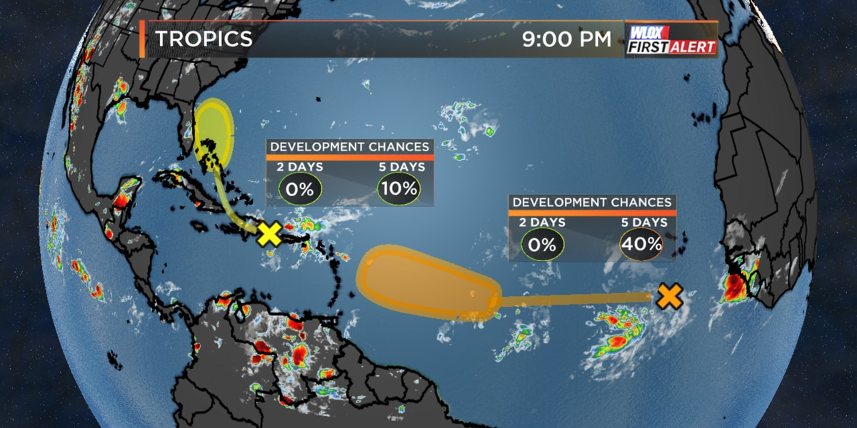 Caribbean tropical wave may near Florida and the Bahamas by late-week