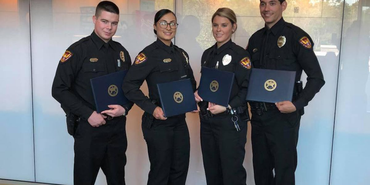 Four new officers join the Pascagoula Police Department