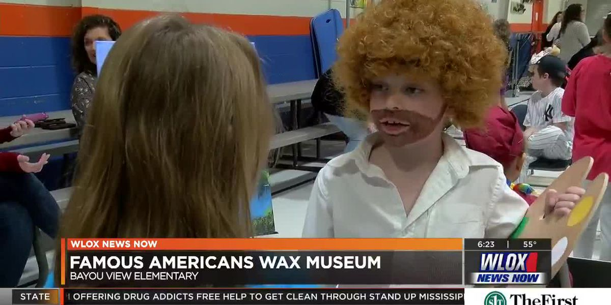 Wax museum brings famous Americans to life at Bayou View Elementary