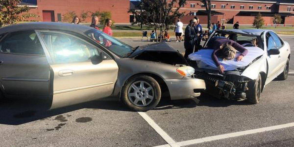 Drunk driving demonstration at Ocean Springs HS hits home