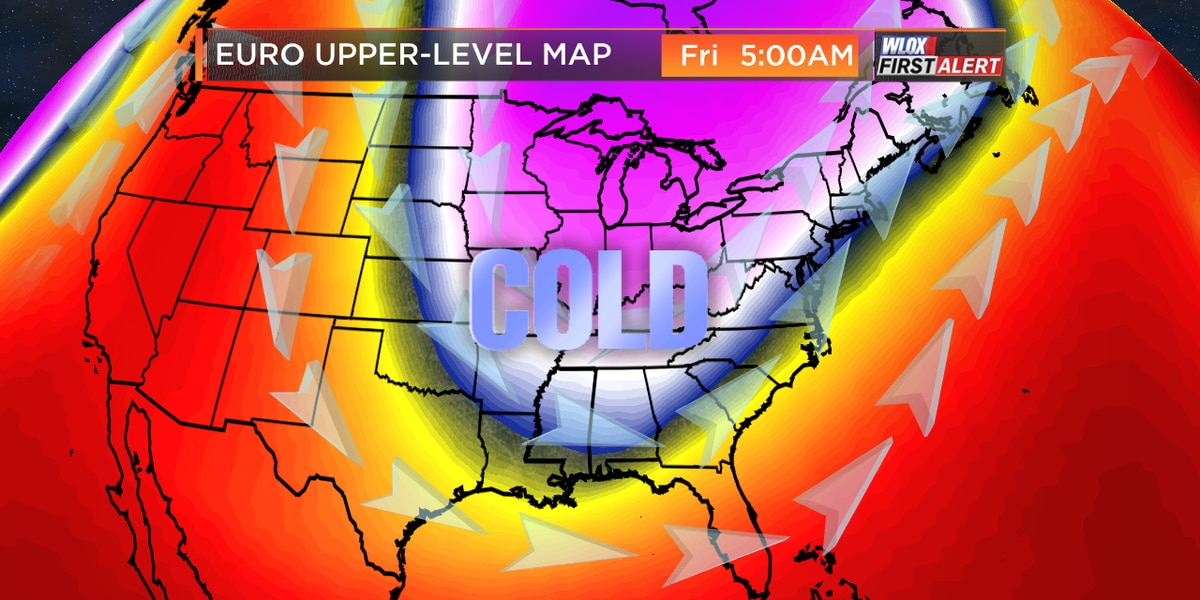 Cold blast headed to South Mississippi