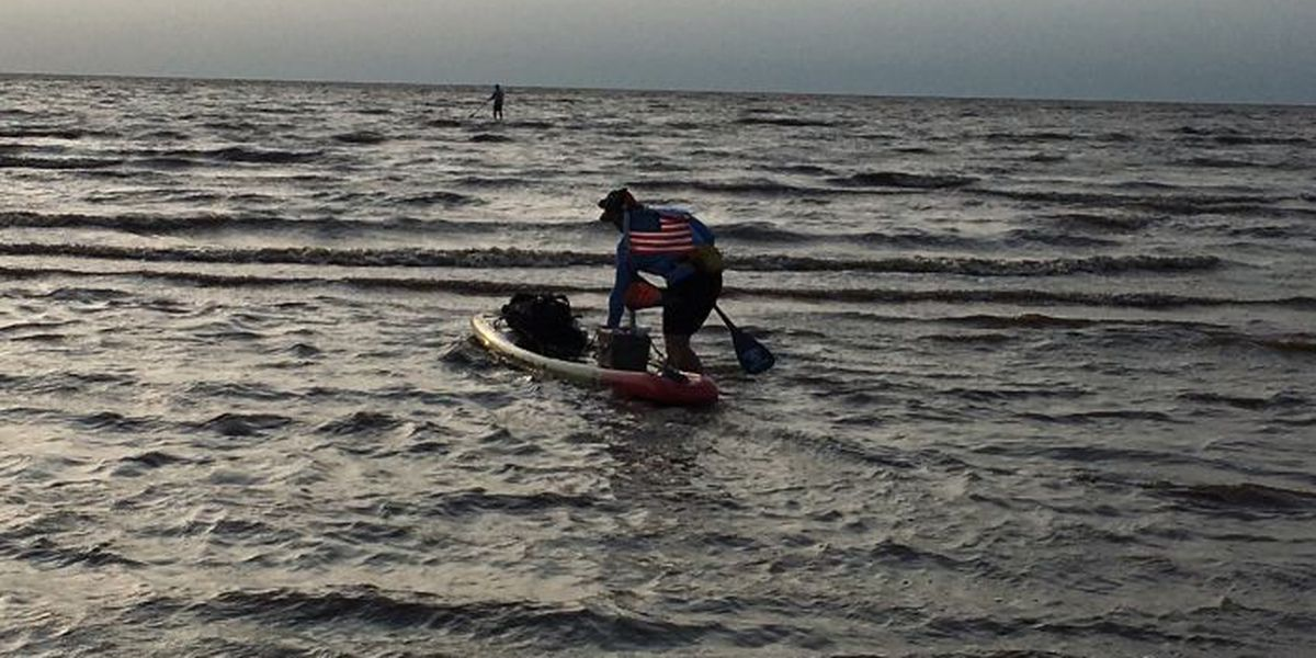 Army veteran paddleboards thousands of miles to help other vets