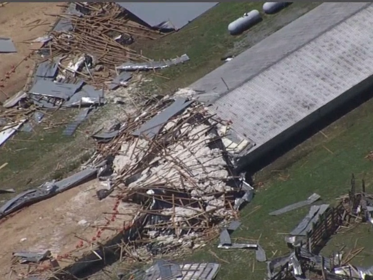 NWS confirms EF-1 tornado hit York County, S.C. destroying farm, killing about 4,000 turkeys