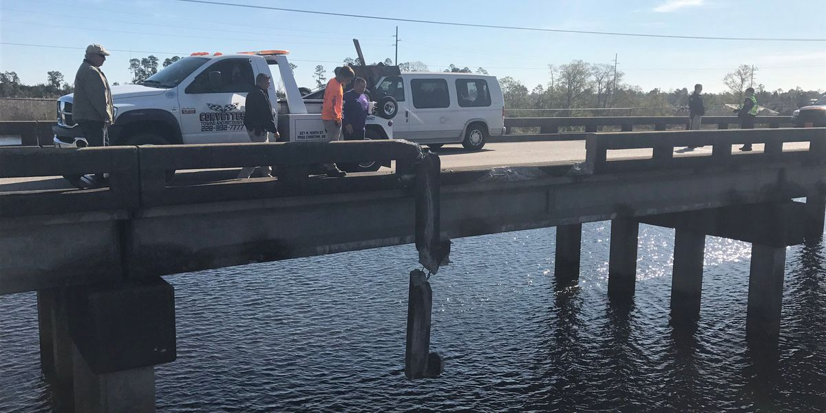 Vehicle pulled from water in Bay St. Louis; catches fire