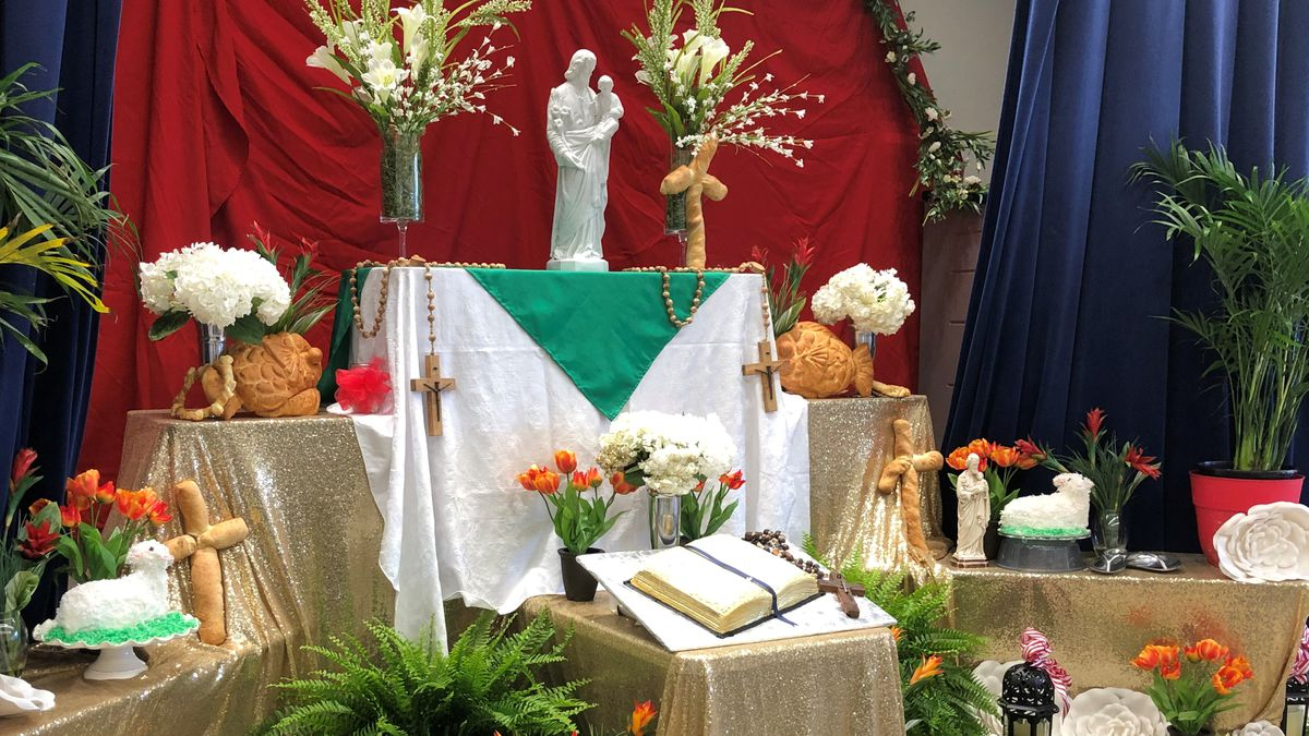 Food overflows at the altar as Catholic churches celebrate St. Joseph's Day