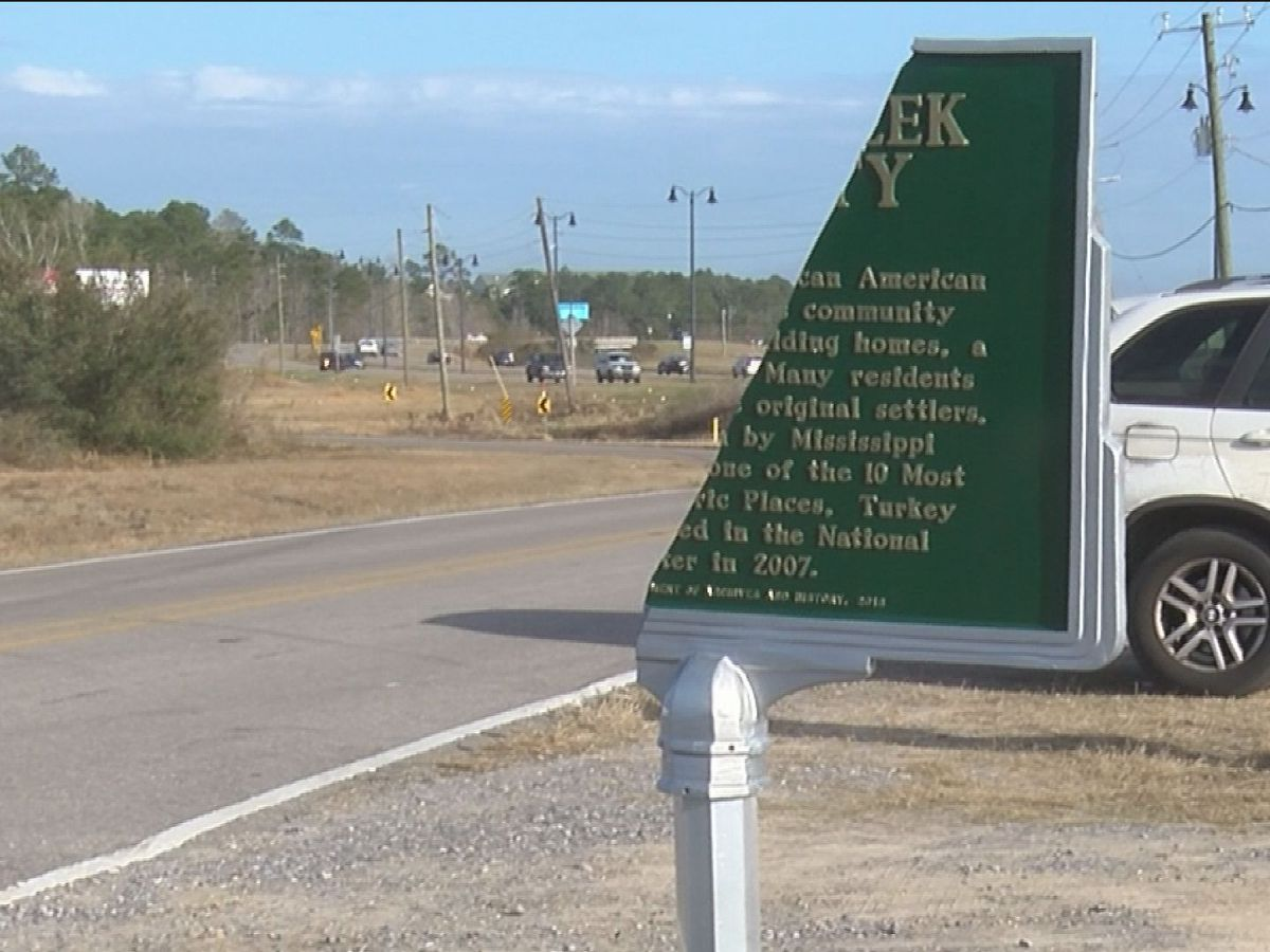 'Whoever did it, we'll be praying for them': Turkey Creek historical marker vandalized in Gulfport