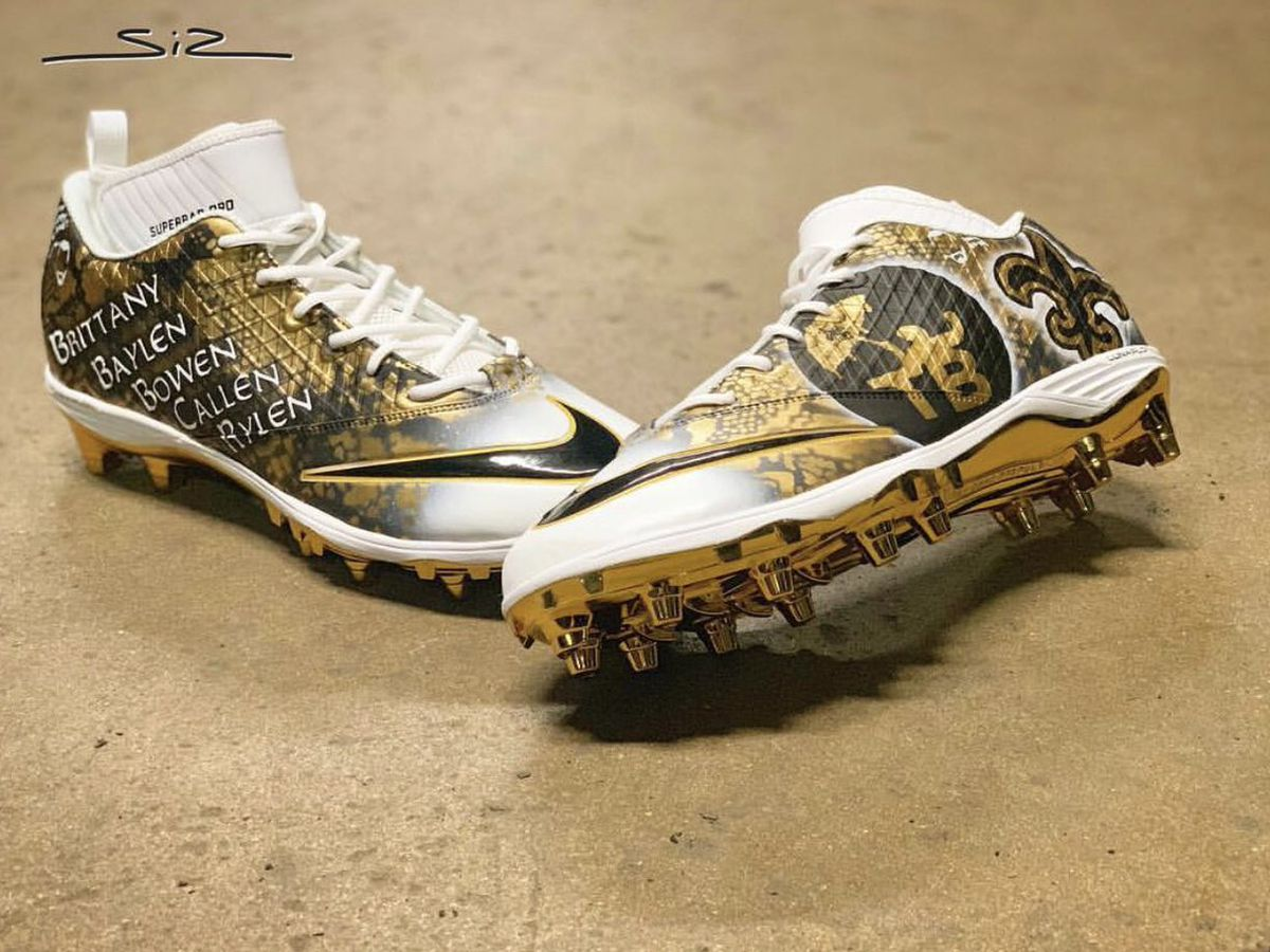 Drew Brees to wear custom designed cleats for NFC Championship