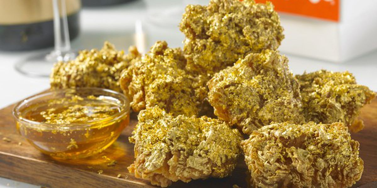One New Orleans Popeyes is selling wings battered in edible 24k gold