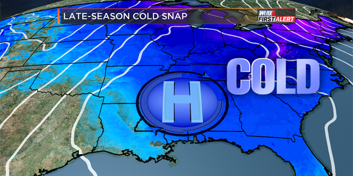 Mid-March freeze across the south
