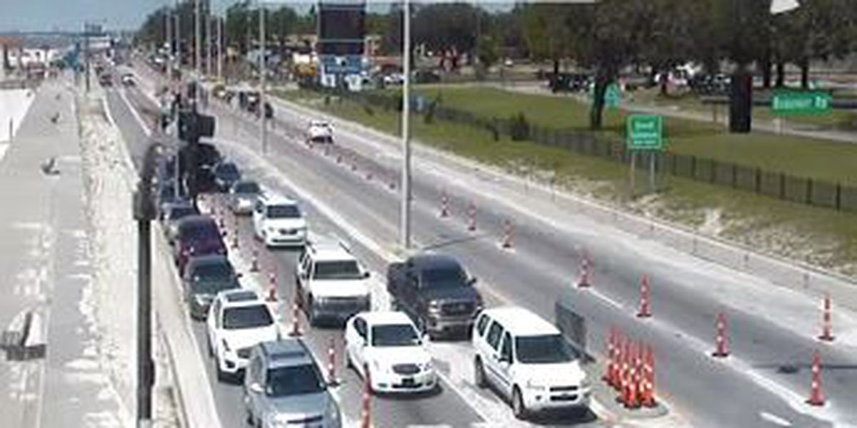 Traffic picking up along Hwy 90 as Spring Break weekend comes to an end