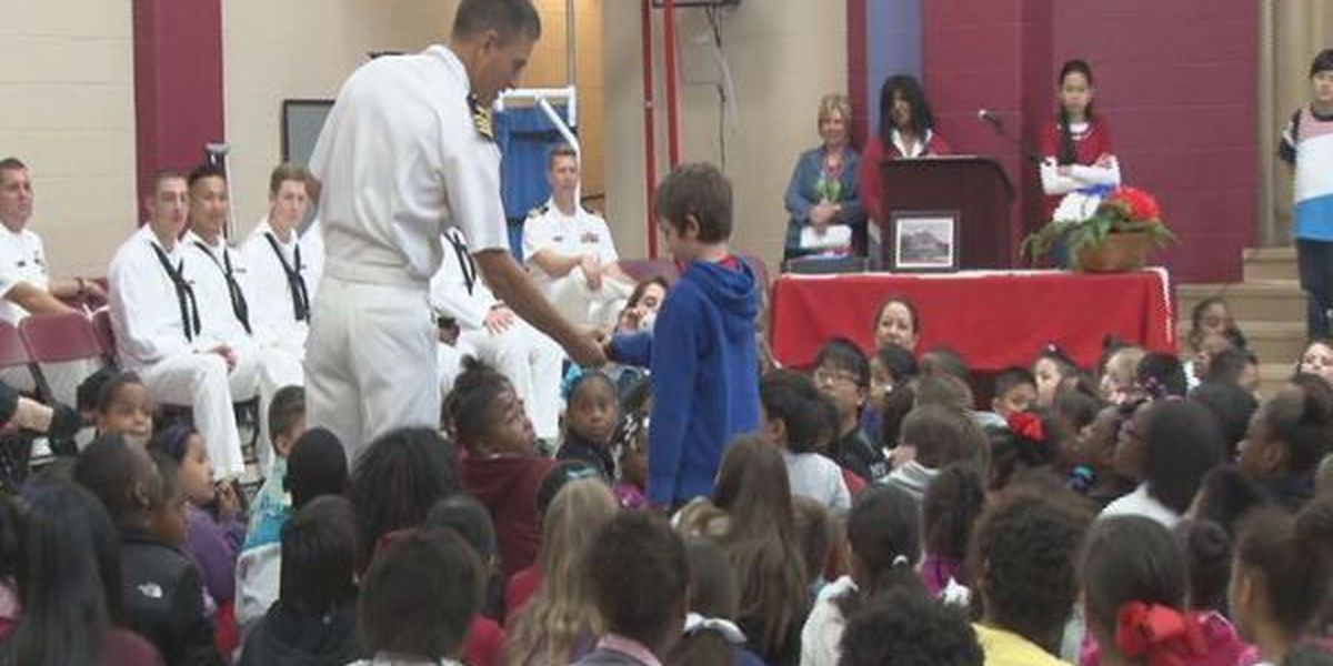 Gorenflo Elementary gives military members the Veterans Day Salute