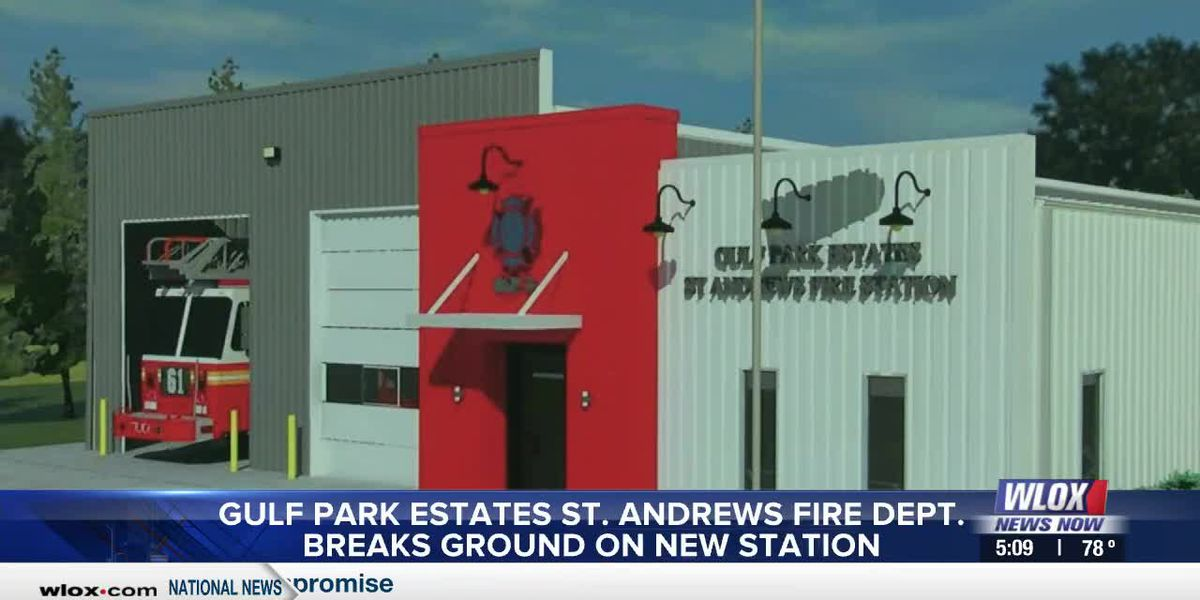 The Gulf Park Estates Saint Andrews Fire Department celebrated a new project in Jackson County