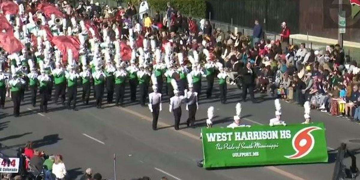 WATCH: West Harrison High Band performs in the Tournament of Roses Parade