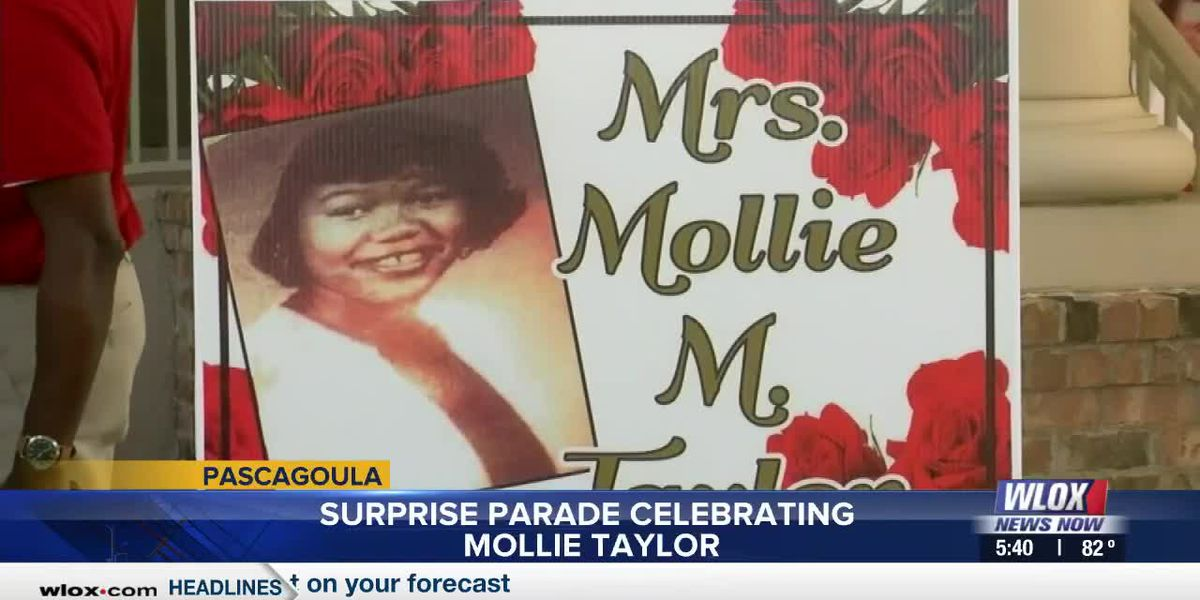 Surprise parade celebrating Mollie Taylor in Pascagoula