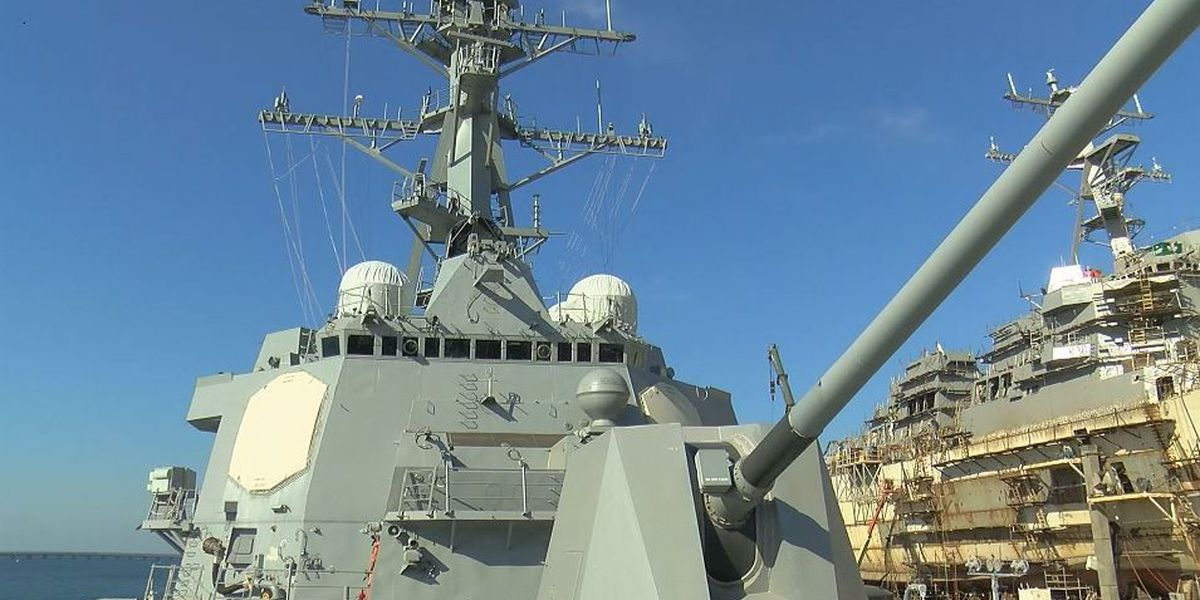 Ingalls delivers guided missile destroyer to U.S. Navy