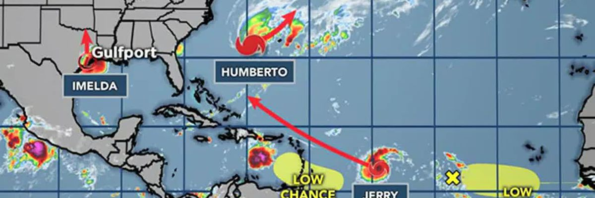 TROPICS VIDEO: 9-18-19 T.S. Jerry to become a hurricane. Models keep it out of the Gulf.