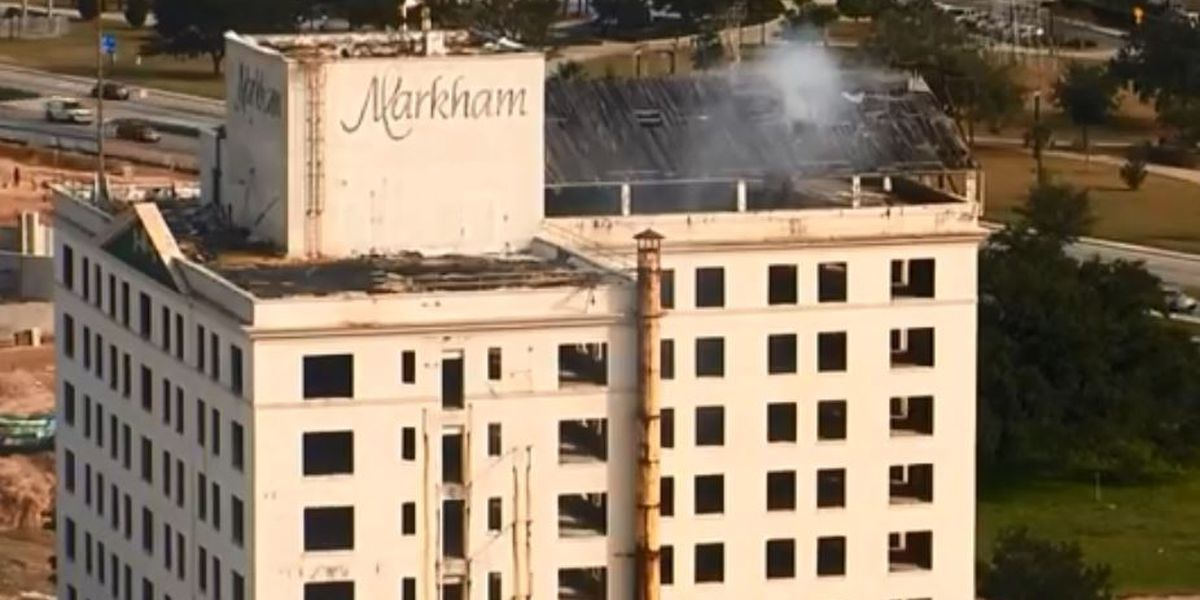 Markham Building smolders after catching fire