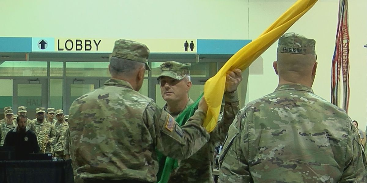 155th Armored Brigade Combat Team changes command, creating a partnership with Kansas