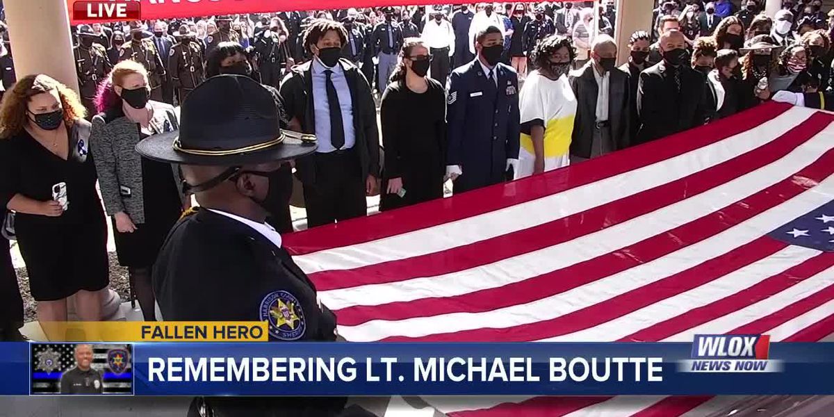 WATCH: Honor Guard, Gov. Reeves present American flag to the family of Lt. Michael Boutte