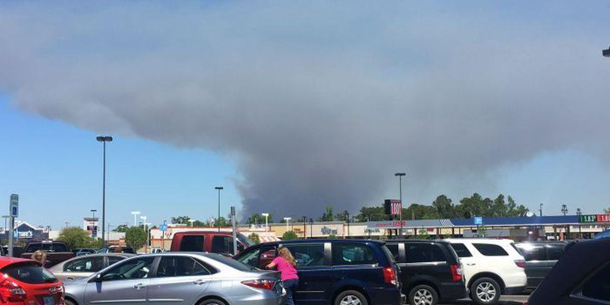 Ground crews working 400 acre prescribed burn in Harrison Co.
