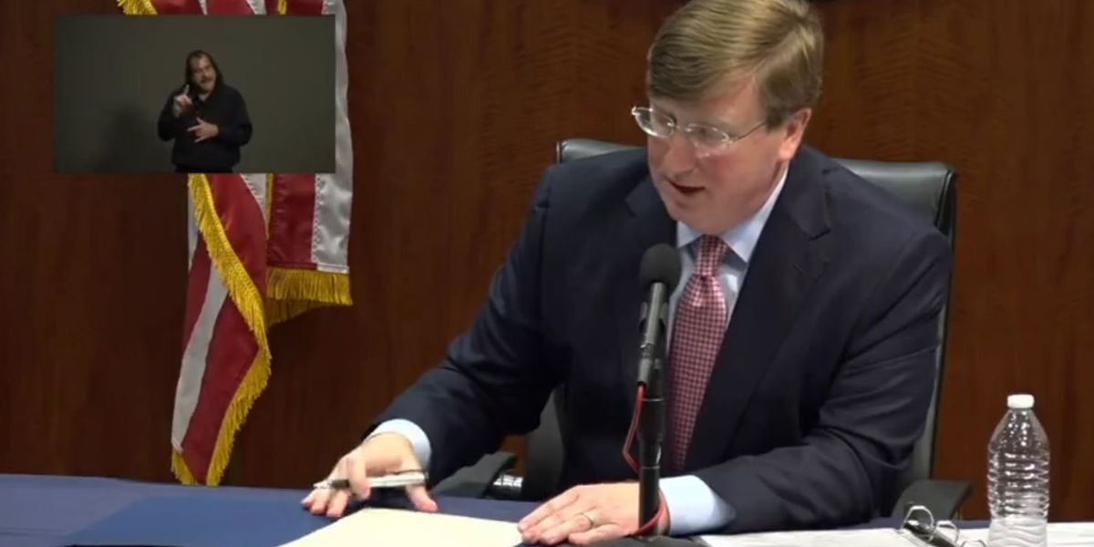 "Gov. Reeves gives statewide ""shelter in place"" order for Mississippi"