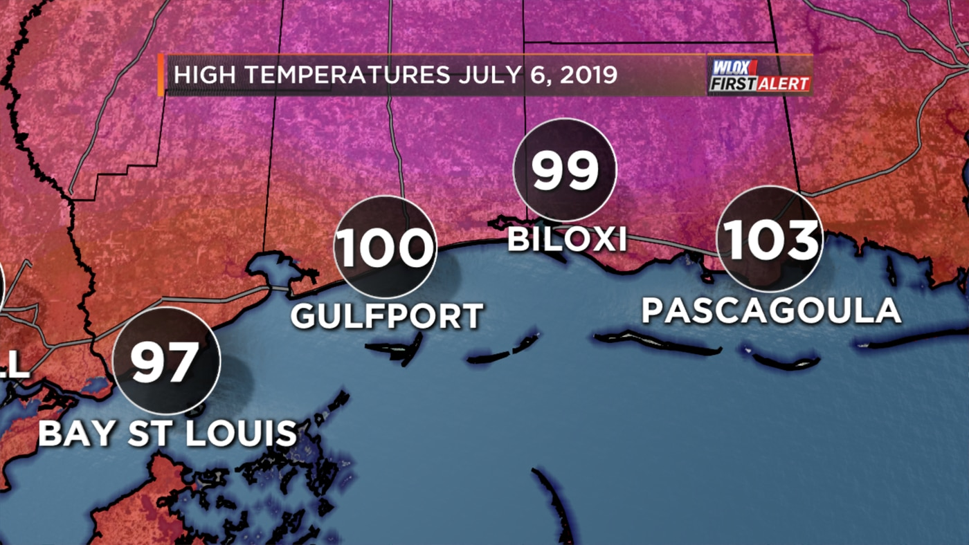 Pascagoula Records Hottest Temperature In Over 20 Years